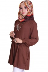 Blus Syafira - Brown