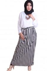 Rocella Rok Celana Stripe - black white (S - M)